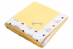 Cobertor para Bebê em Soft Amarelo New York Triângulo Colorido