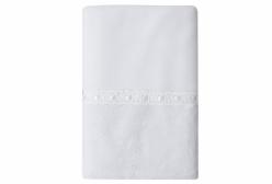 Cobertor para Bebê Soft com Laise Chantilly Branco