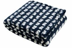 Cobertor Térmico para Berço ou Montessoriano em Microsoft Elefante Marinho