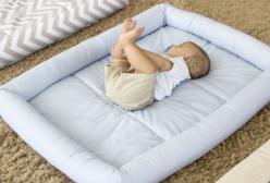 Colchonete Infantil Xadrez Azul para Berço Desmontável e outros