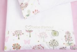 Colchonete para Carrinho de Bebê Bella Butterfly Rosa 2 peças