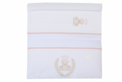 Colchonete para Carrinho de Bebê Urso com Coroa Rosa Just Baby