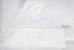 Colchonete para Carrinho Flor de Lis Royal Branco 300 fios Laura Ashley