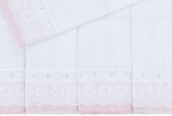 Conjunto 5 Fraldas Cremer Luxo Pinte e Borde Bless Rosa - Rosa