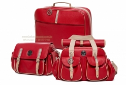 Conjunto Bolsas Maternidade e Mala Liverpool Vermelho Lequiqui