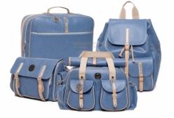 Conjunto Completo Bolsas Maternidade Liverpool Azul Lequiqui