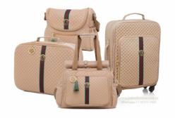 Conjunto Completo Bolsas Maternidade Victoria Bege Lequiqui 4 peças