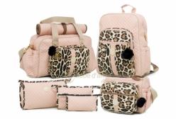 Conjunto Completo de Bolsas Maternidade Mali Rosa Lequiqui