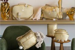 Conjunto Completo de Bolsas Maternidade Vienna Ouro Lequiqui