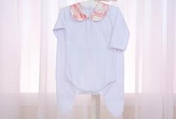 Conjunto de Body para Bebê com Mijão Jouy Vermelho