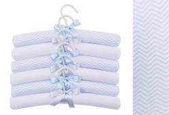 Conjunto de Cabides para Bebê Chevron Azul Petit Avion Hug