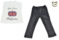 Conjunto Valentina Santi God Save Queen - Preto