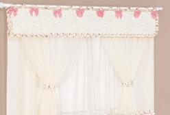 Cortina em Voil para Quarto de Bebê Provençal Rosé