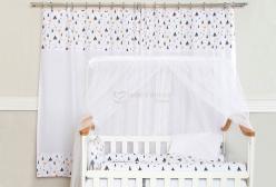 Cortina para Quarto de Bebê e Infantil Fox Preto