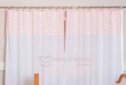 Cortina para Quarto de Bebê Lollipop com Argolas Cisne Rosa