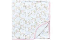 Cueiro para Bebê em Suedine Ovelhinha Algodão Doce Rosa Hug Baby