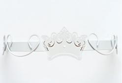 Dossel Arabesco Branco com Coroa