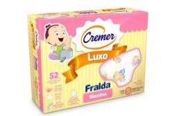 Fralda Cremer Luxo Estampada Menina c/ 5 peças