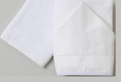 Jogo de Toalha de Banho Flor de Lis Royal Branco 300 Fios Laura Ashley - Branco