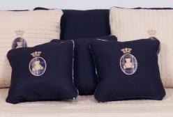 Kit Almofadas Imperial em Linho (2 cores) - Azul Marinho