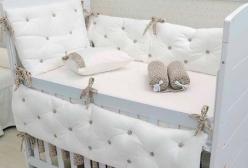 Kit Berço e Enxoval em Suedine Sophia Hug Baby 20 Peças