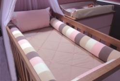 Kit Berço em Tricô Luxo Rosa, Nude e Marfim
