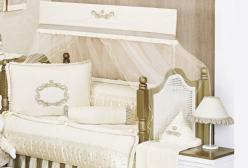 Kit Berço Enxoval Imperial Marfim 9 Peças com Mosquiteiro