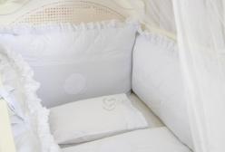 Kit Berço Personalizado Renascença Branco 5 Peças