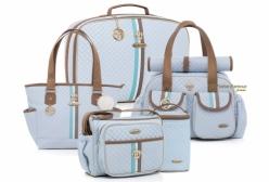 Kit Bolsas Maternidade Completo New Monarchy Azul Lequiqui