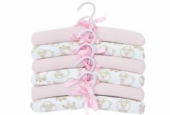 Kit Cabide Infantil Ovelhinha Algodão Doce Rosa Hug Baby 6 Peças