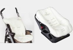 Kit Capa Carrinho e Bebê Conforto Imperial Marfim 02 peças