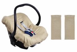 Kit Capa para Bebê Conforto e Protetor de Cinto Best Friends Hug Baby