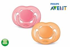 Kit Chupeta Philips Avent Ortodôntica Rosa e Laranja 6-18 meses