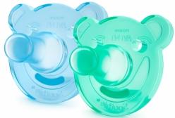 Kit Chupeta Soothie Philips Avent Azul e Verde 0 à 3 meses
