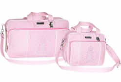 Kit Conjunto Bolsa Maternidade Imperial Rosa Batistela