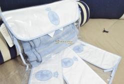 Kit Embalagem para Roupas da Maternidade Azul 02 Peças