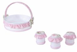 Kit Higiene para Bebê Provençal Rosa Giz de Cor 04 Peças