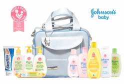 Kit Johnsons Baby Conjunto Especial Bebê +1 Bolsa Maternidade Azul