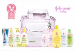 Kit Johnsons Baby Conjunto Especial Bebê +1 Bolsa Maternidade Rosa