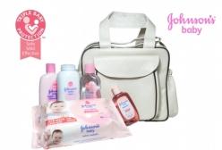 Kit Johnsons Baby Conjunto Extra Cuidados +1 Bolsa Maternidade Bege