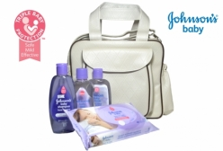 Kit Johnsons Baby Conjunto Hora do Sono +1 Bolsa Maternidade Bege