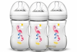 Kit Mamadeiras Pétala Philips Avent Flamingo 260ml