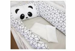 Kit Mini Berço Panda 7 Peças