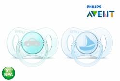Kit Mini Chupetas Philips Avent Ortodôntica Azul e Verde 0-2 Meses
