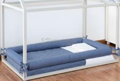 Kit  Montessoriano Mini Cama Azul Jeans 5 peças (Colchão 1,50x0,90)