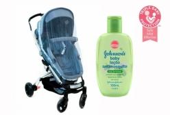 Kit Mosquiteiro para Carrinho e Loção Anti Mosquito Johnsons Baby