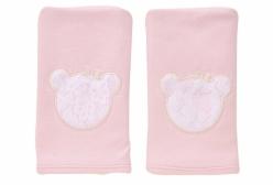 Kit Pano de Boca em Suedine Carinhoso Rosa Hug Baby