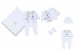 Kit Saída Maternidade Amor Perfeito Liberty 5 Peças