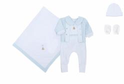 Kit Saída Maternidade Theodore Azul 5 Peças