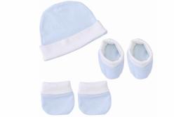 Kit Touca, Luva e Meia Duque Azul Hug Baby